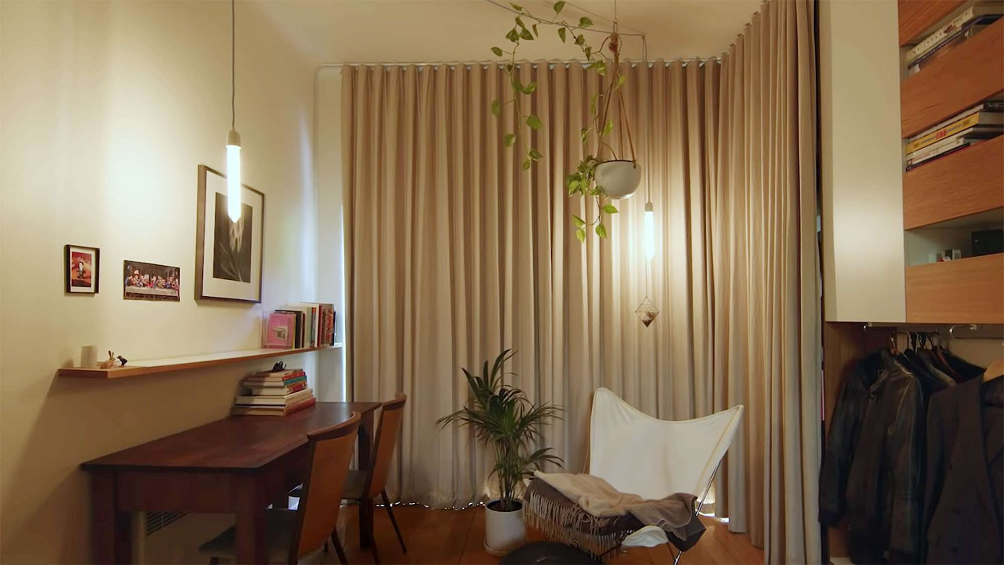 the purple rose of cairo micro-apartment renovation Architecture Architecture curtains closed