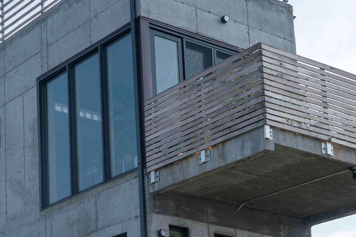 concrete house detail