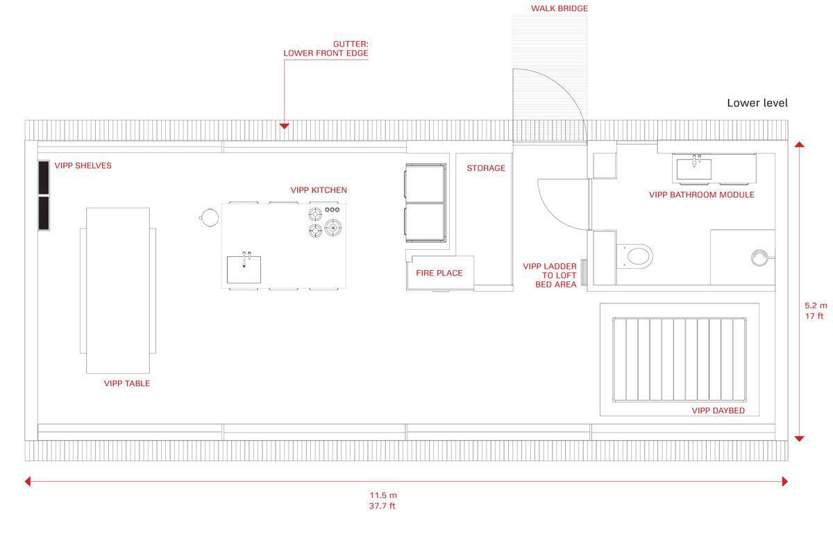 VIPP floor plan drawing