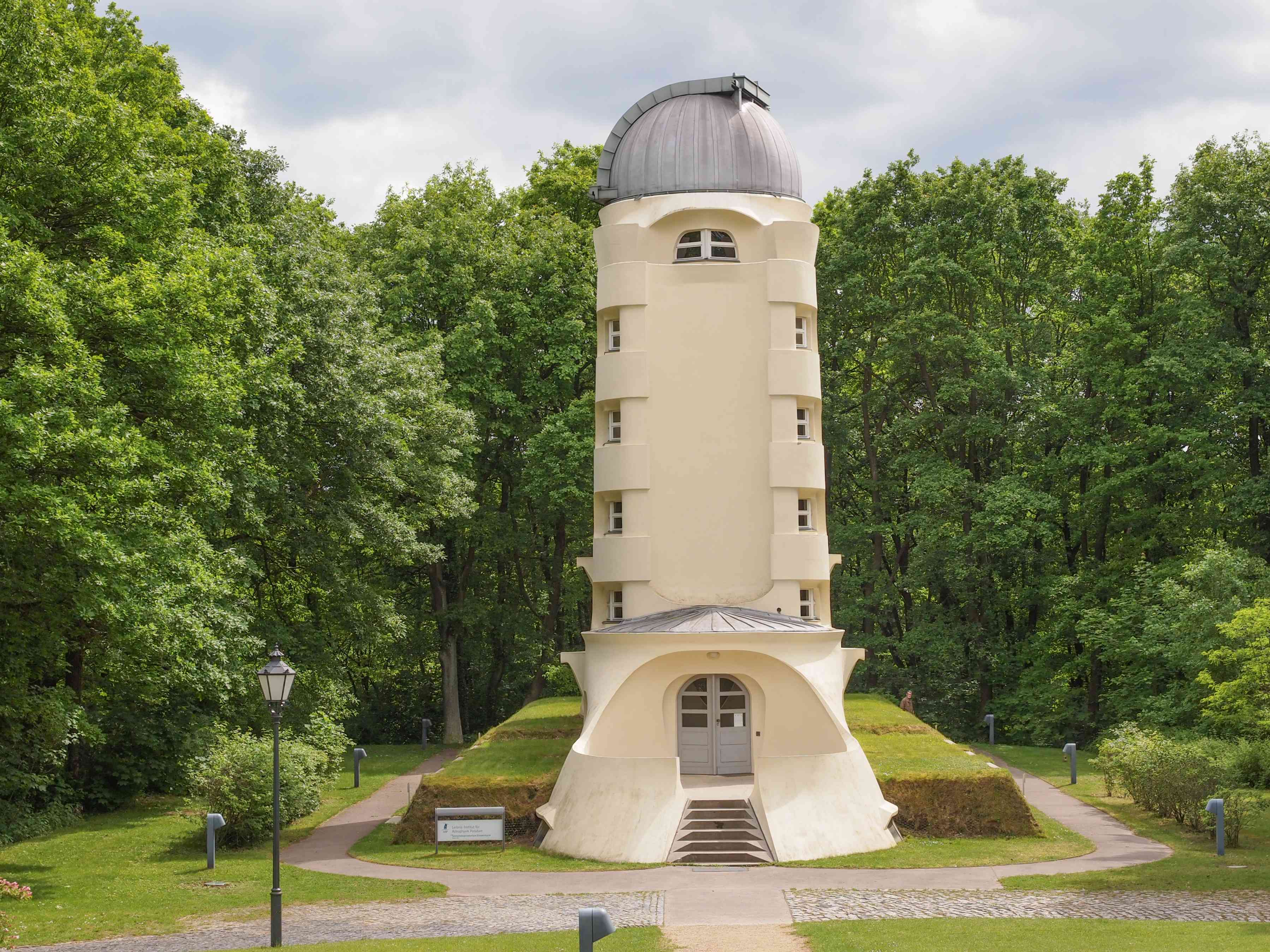 Einstein Tower in surrounded by trees in Potsdam, Germany