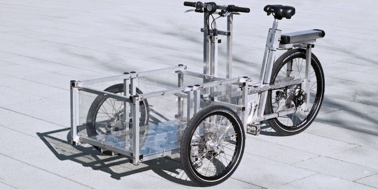 Cargo bike on pavement