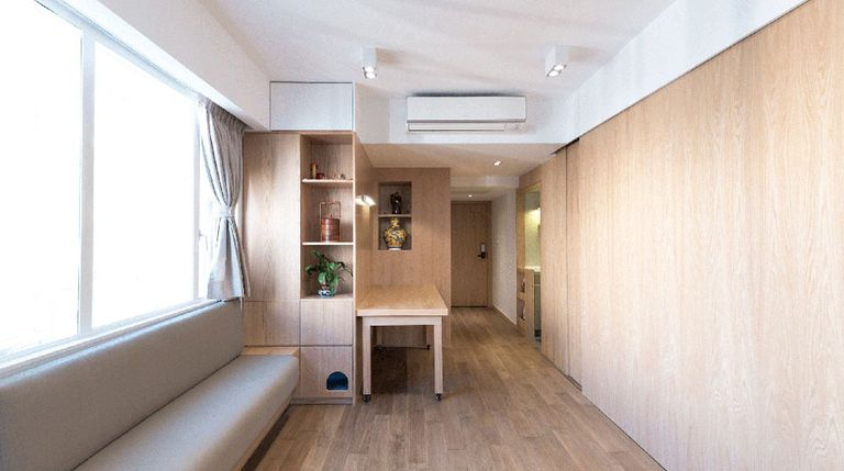 Small Hong Kong Apartment Uses Low Tech Ideas To Maximize Space
