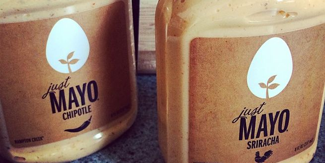 "Bottles of ""Just Mayo"" before a forced FDA name change"