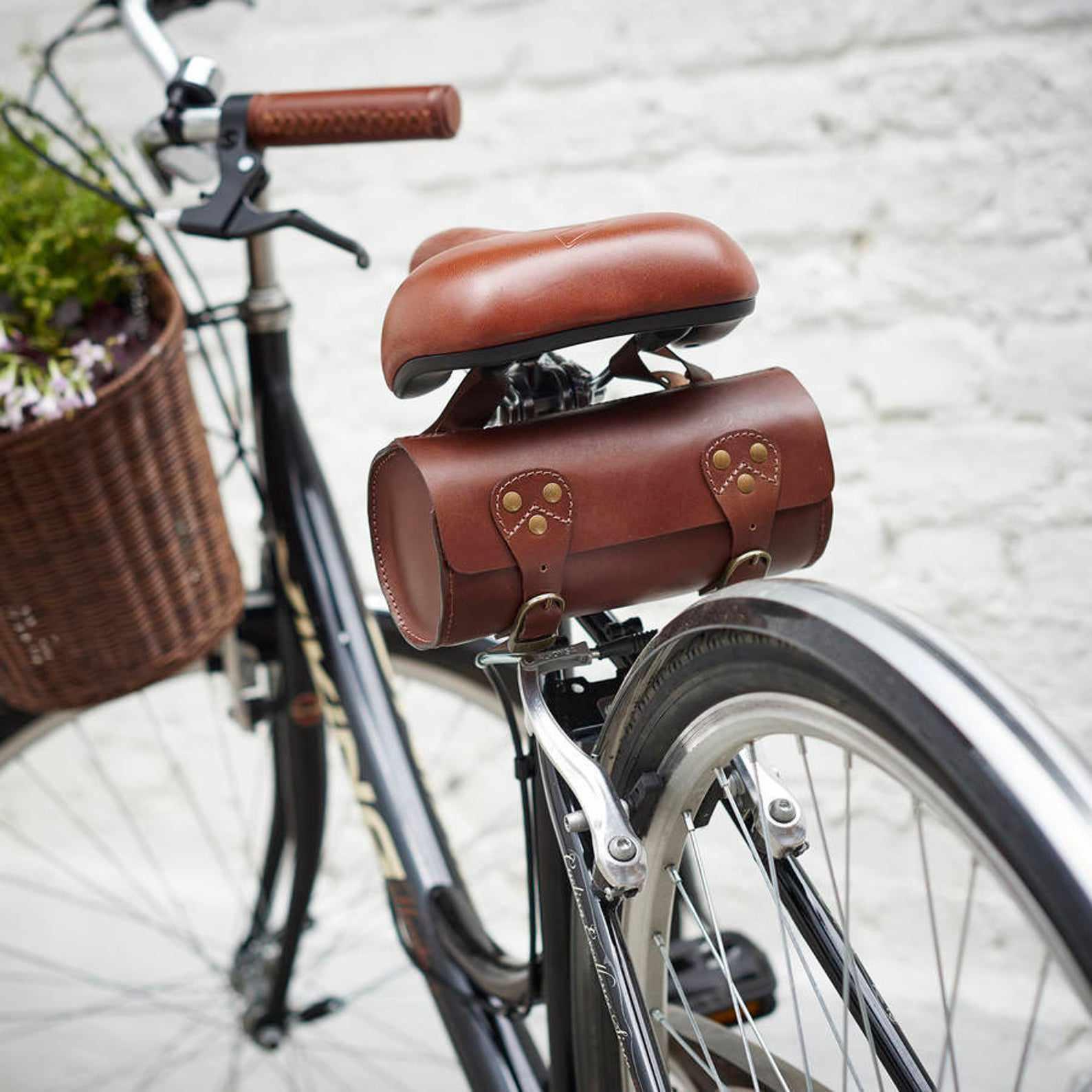 Herbert and Winifred Leather Bike Saddle Bag