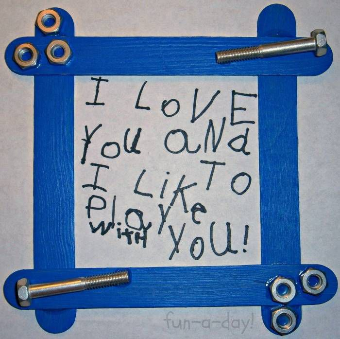 Nuts and bolts frame for fathers day