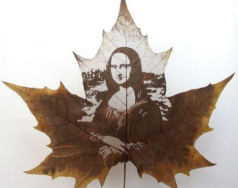 leaf sculpture mona lisa photo