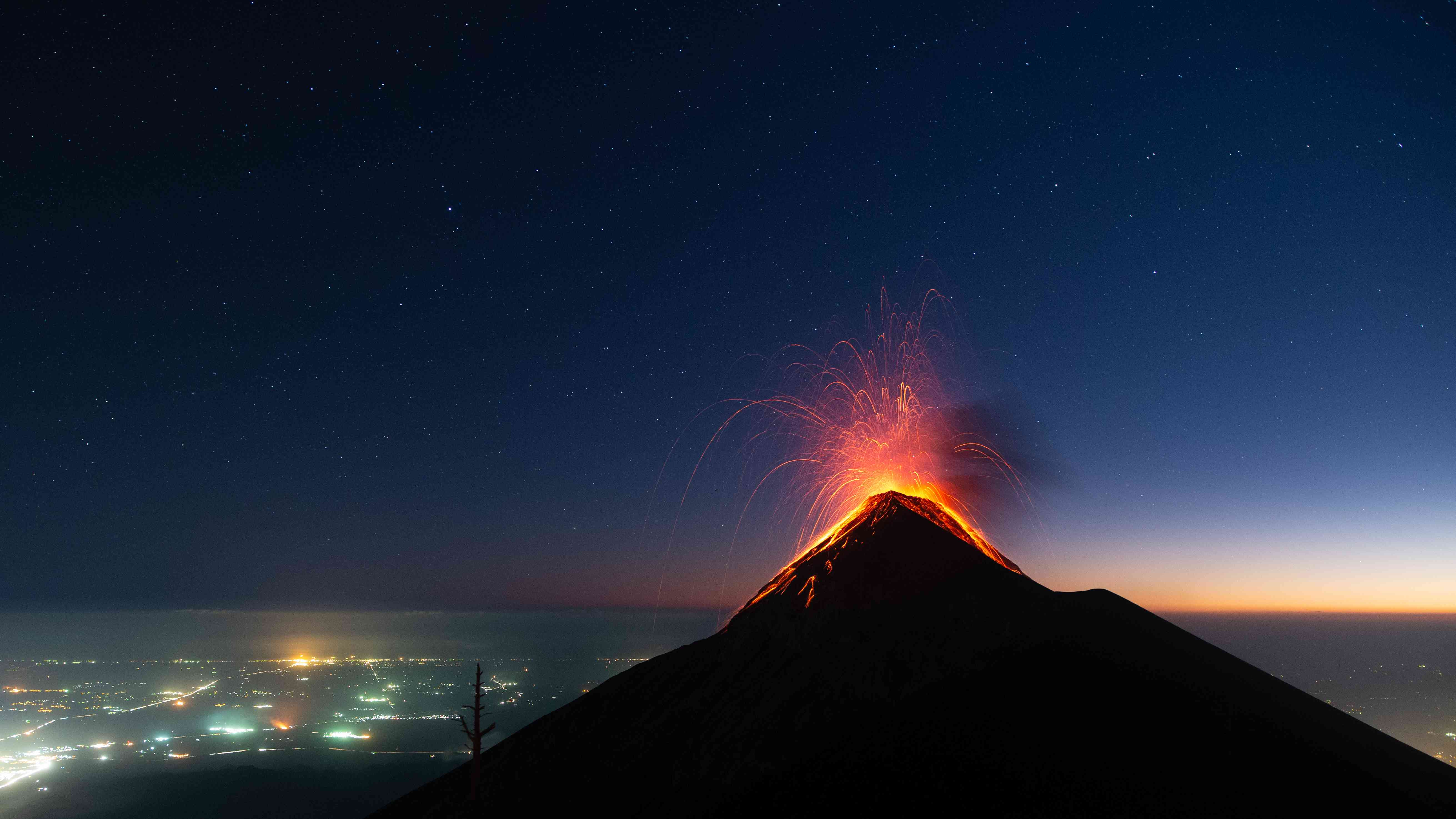 Scenic view of sea against sky at night,Guatemala
