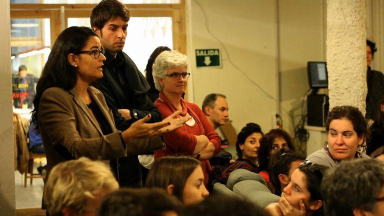Mar Alarcón, founder and managing partner at Barcelona-based SocialCar, speaking.