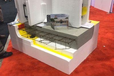 Floating foam foundation display