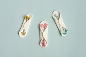 Reusable period pads with flowers