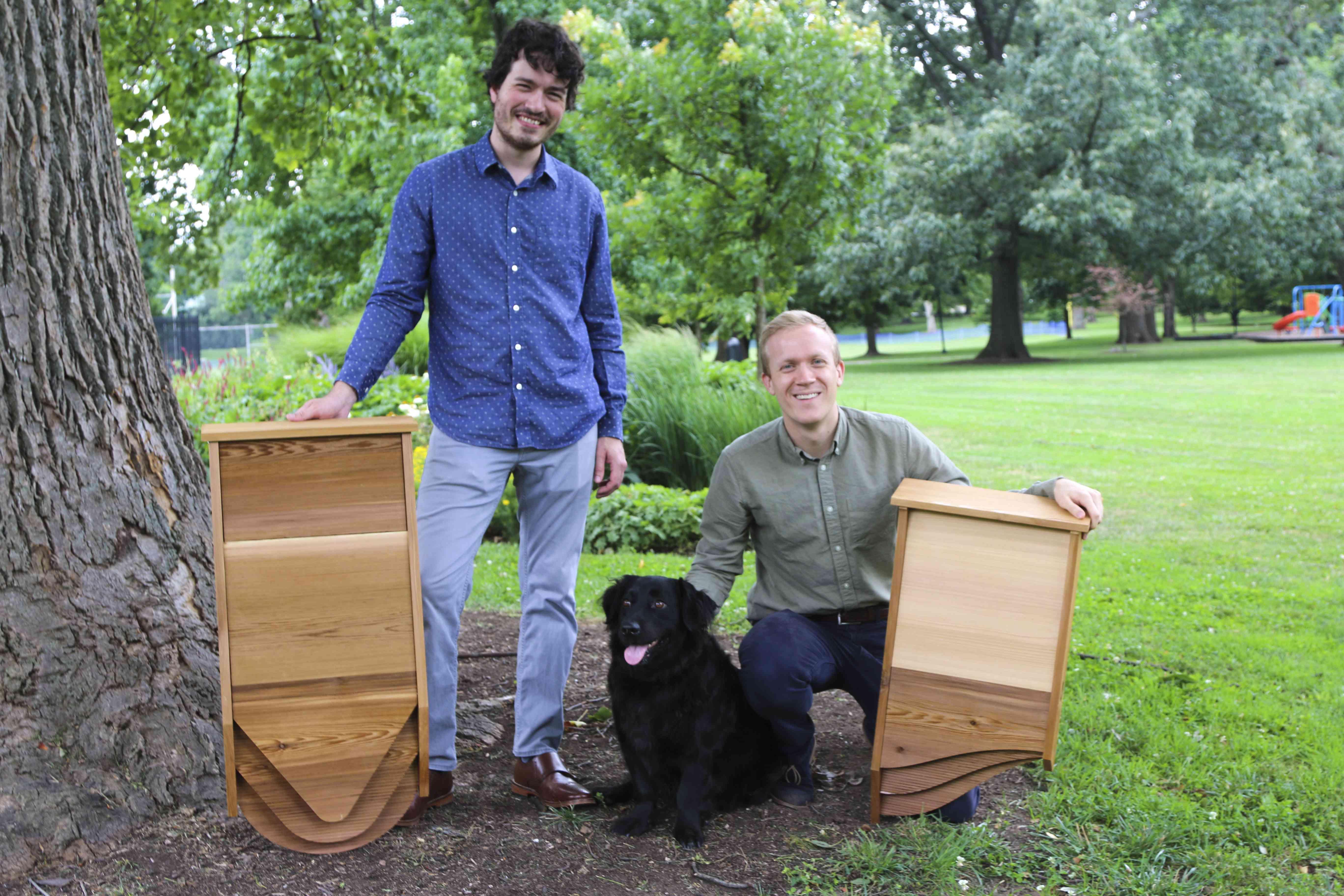 BatBnB co-founders Harrison Broadhurst, Chris Rannefors