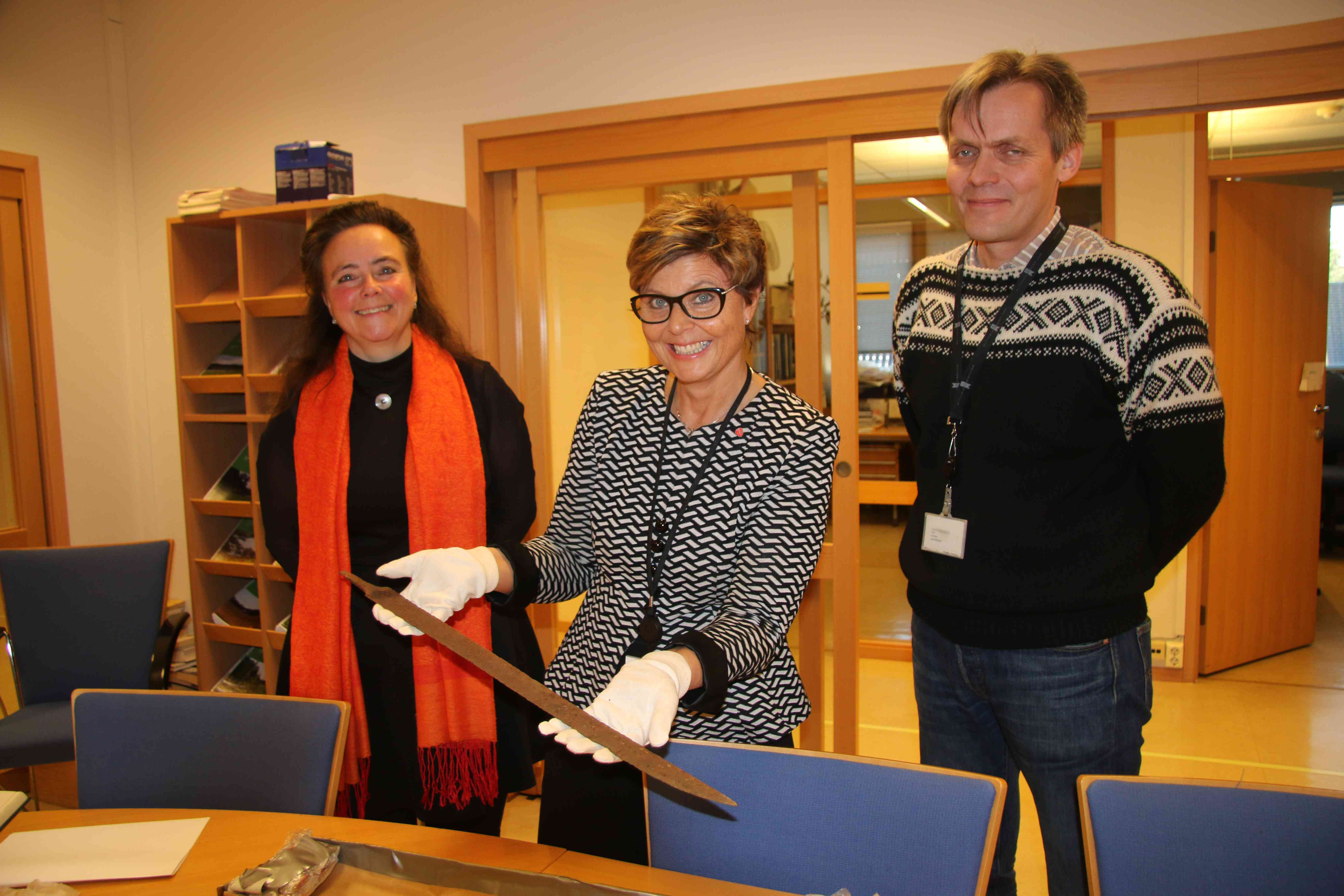 Hordaland County Council with Viking sword