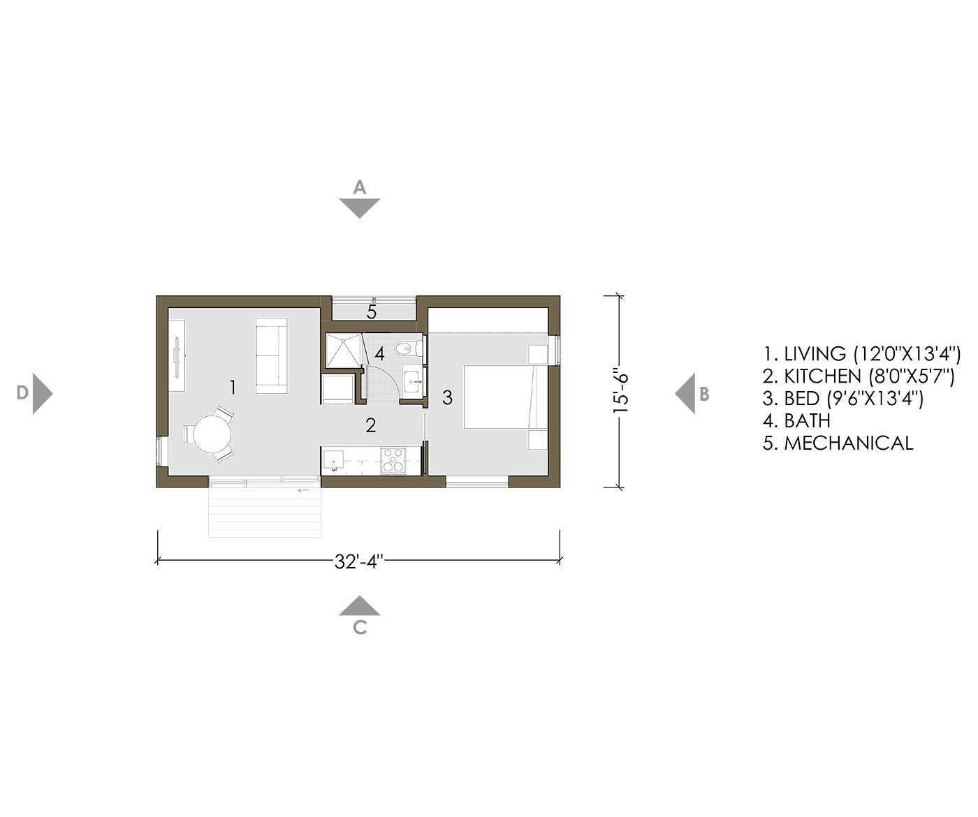 Typical plan of an ADU