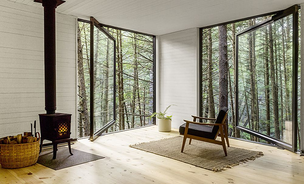 Half-Tree House Is a Modern Off-Grid Cabin Built for $20,000