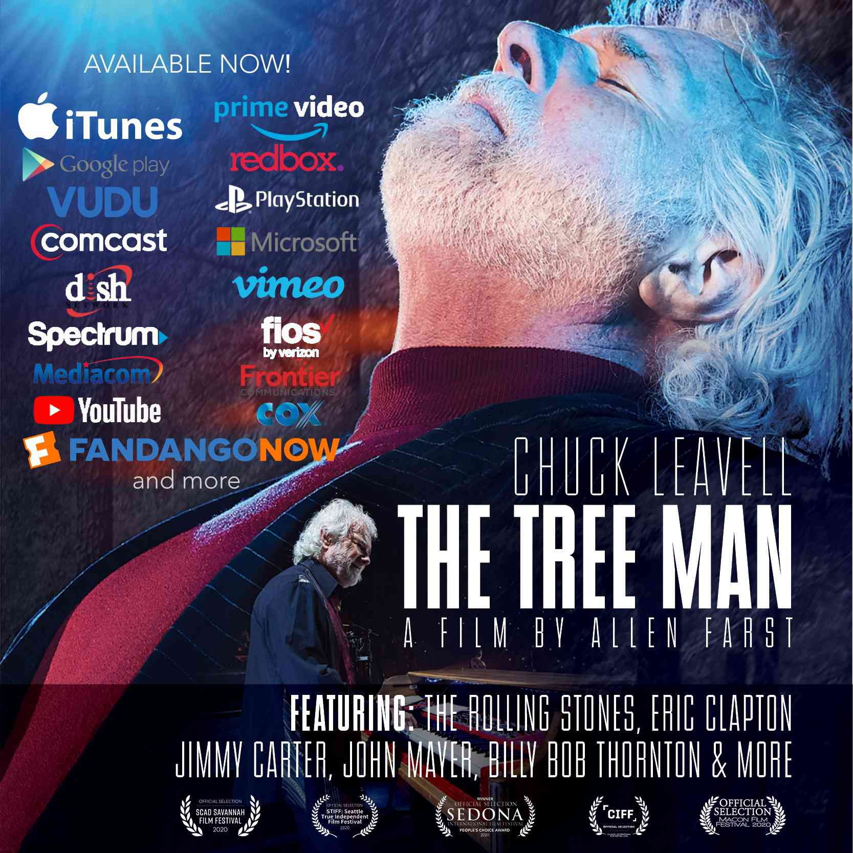 movie poster for chuck leavell documentary