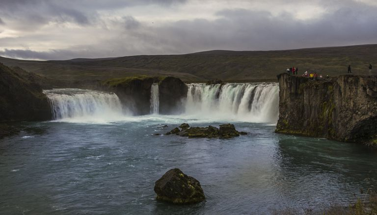 The Godafoss Waterfall in Iceland