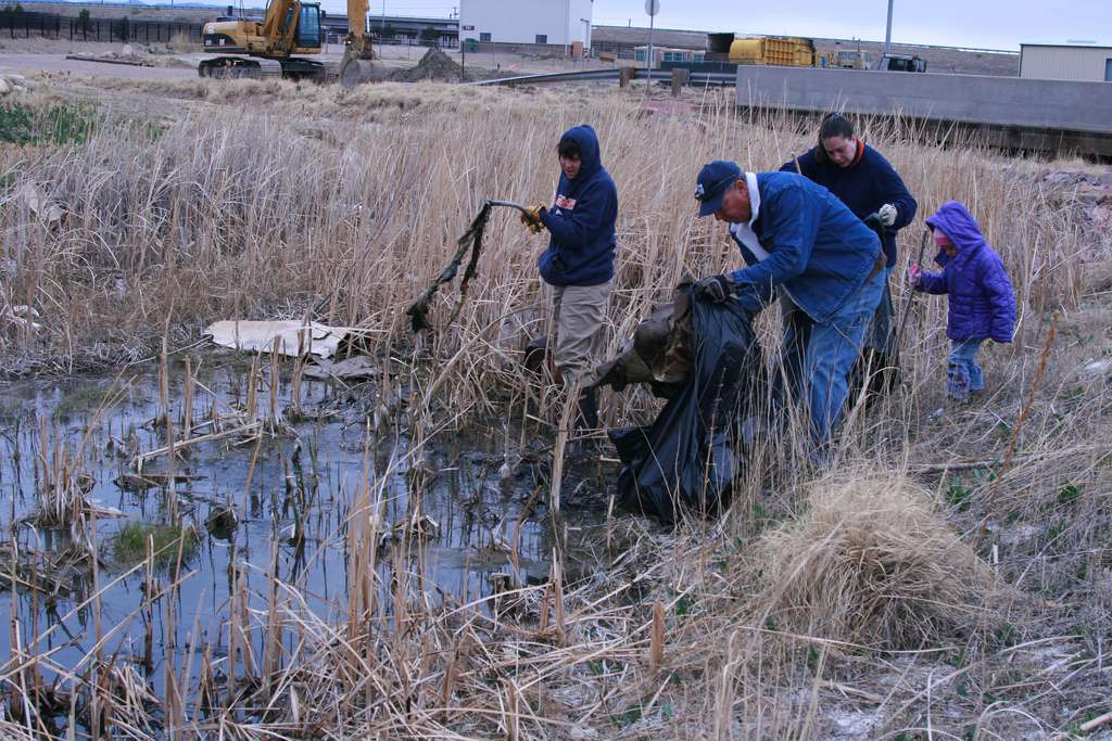 volunteers clean up Fort Carson on Earth Day