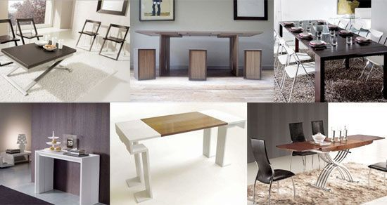 Six different images of transformer table styles