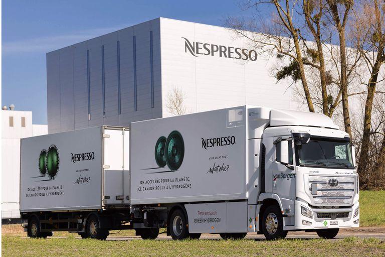 Nespresso Hydrogen Trucks