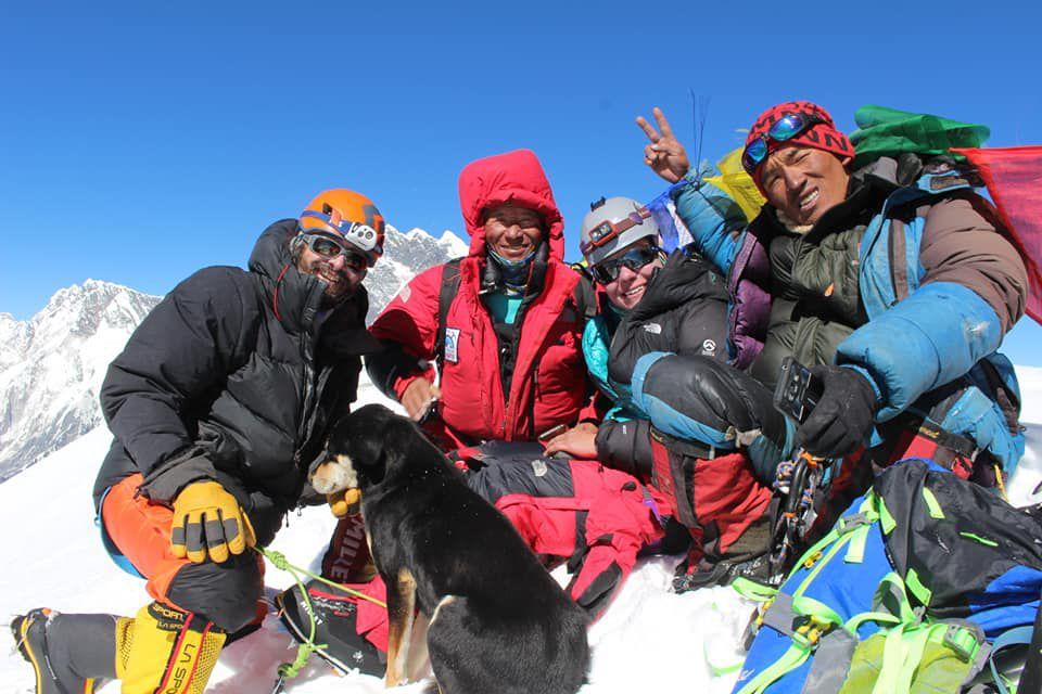 Mera with fellow climbers