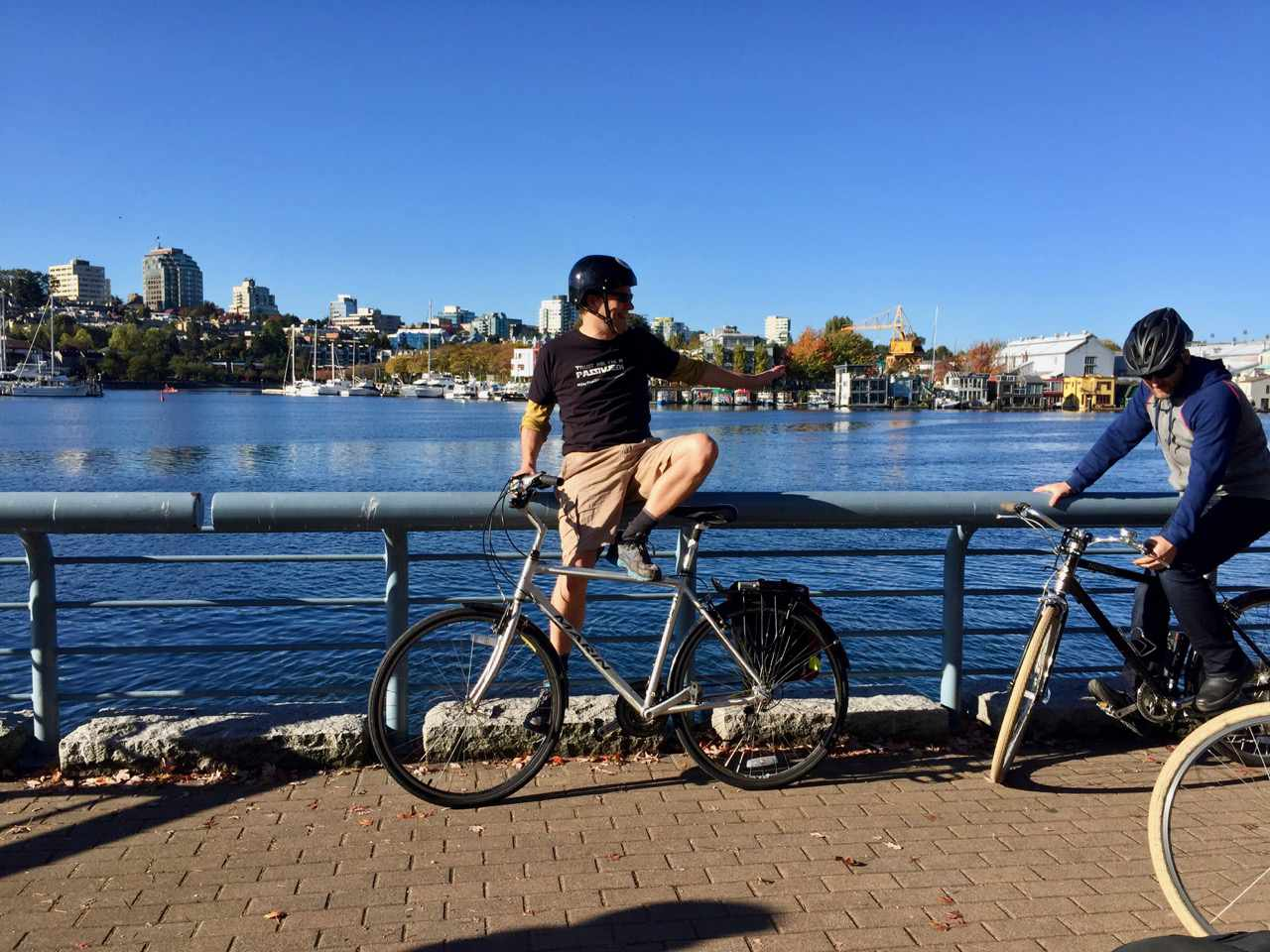 Hippie elitists cycling in Vancouver