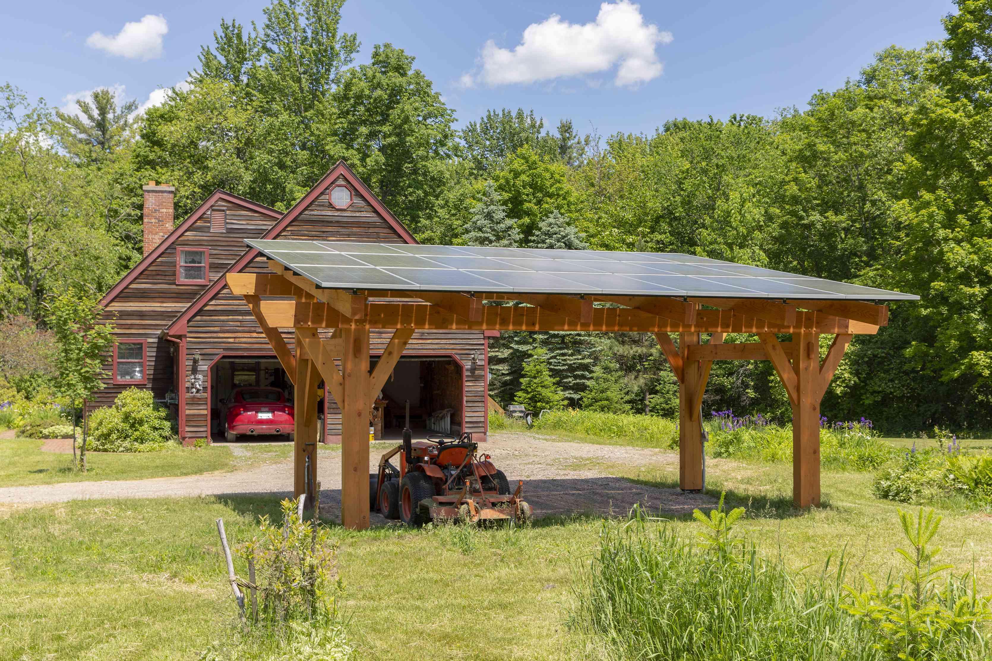 Solar canopy is storage