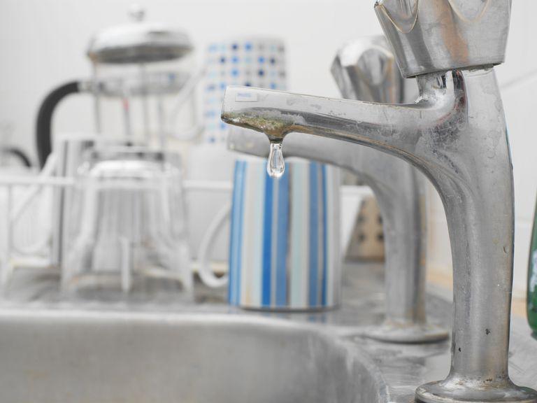 Dripping kitchen tap