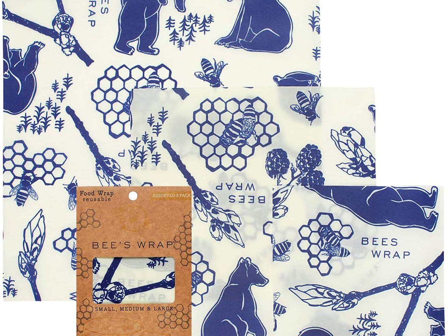 Set of 3 Natural Reusable Beeswax Food Wrap-Choose your set
