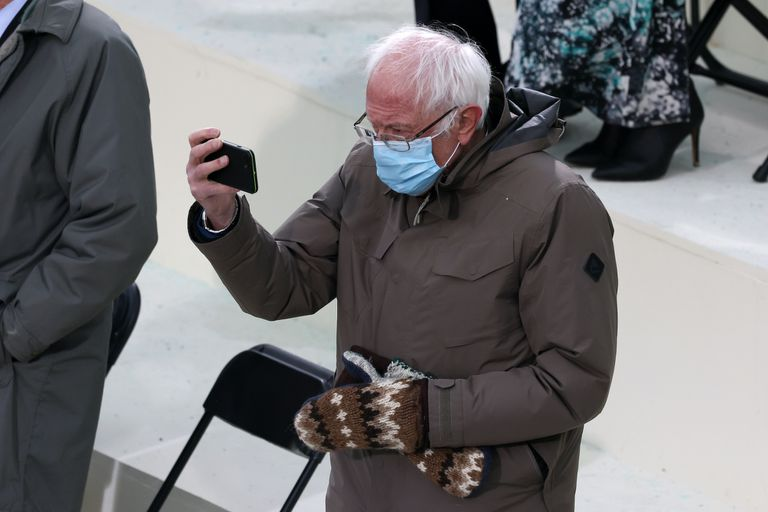 Bernie Sanders' mittens on Inauguration Day