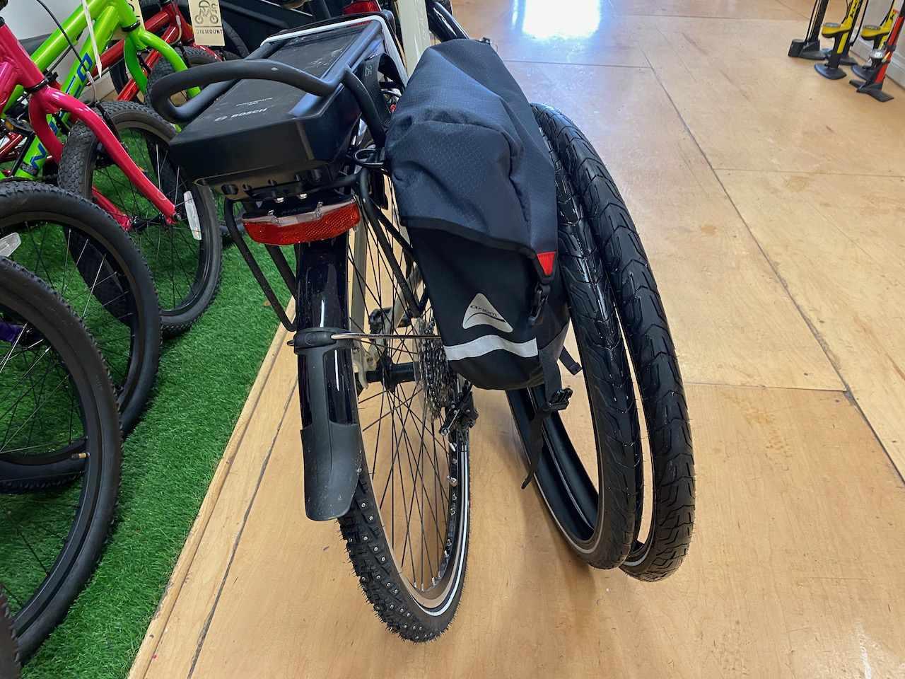 Studded tires on bike