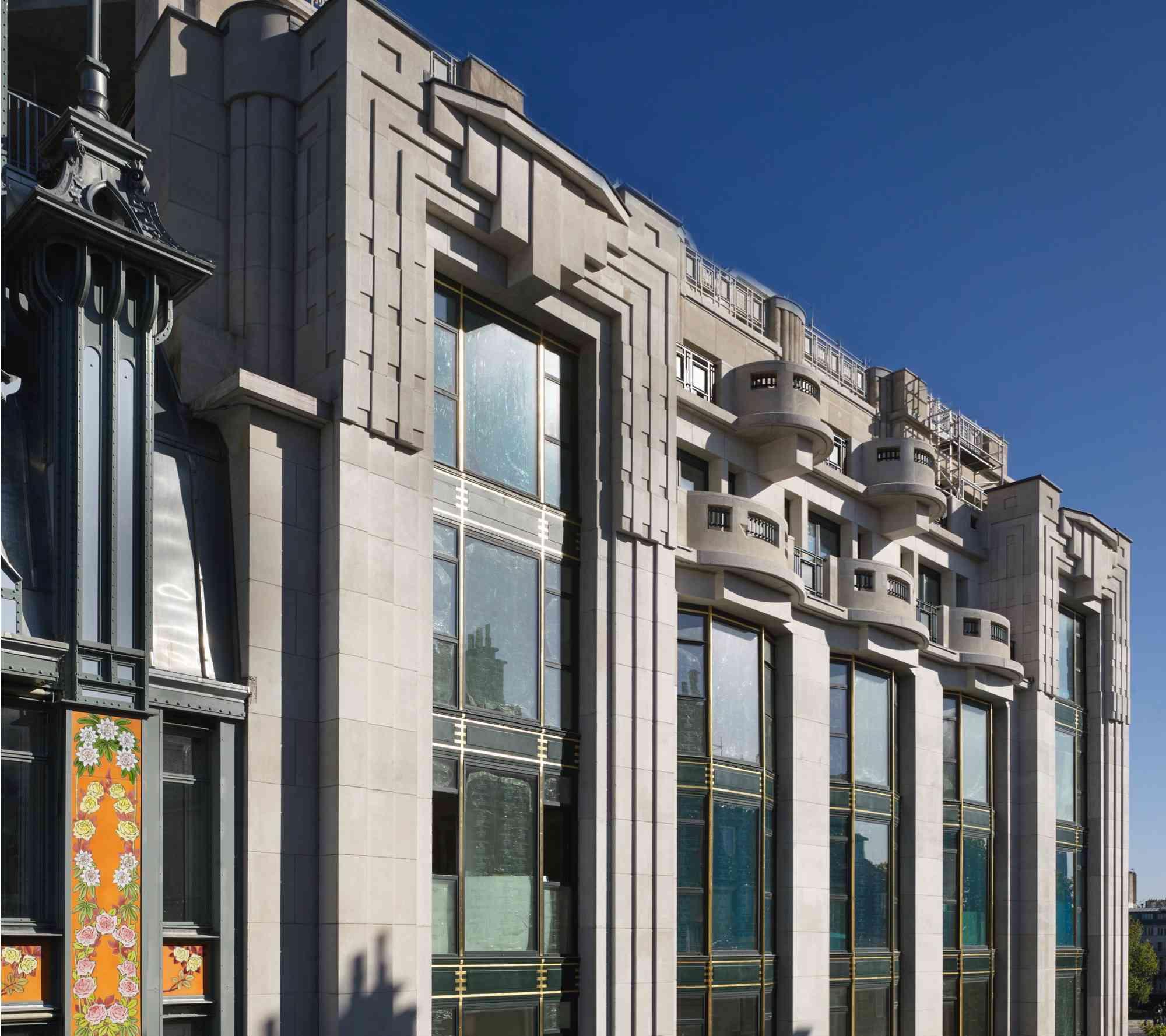 detail of top of art deco building