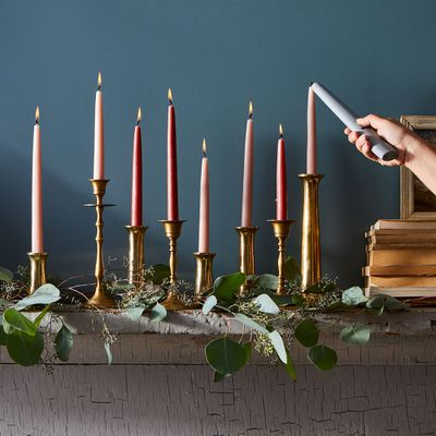 Lighting candles with an electric lighter