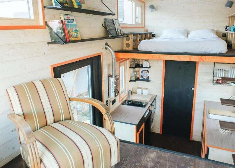 idle tiny house interior
