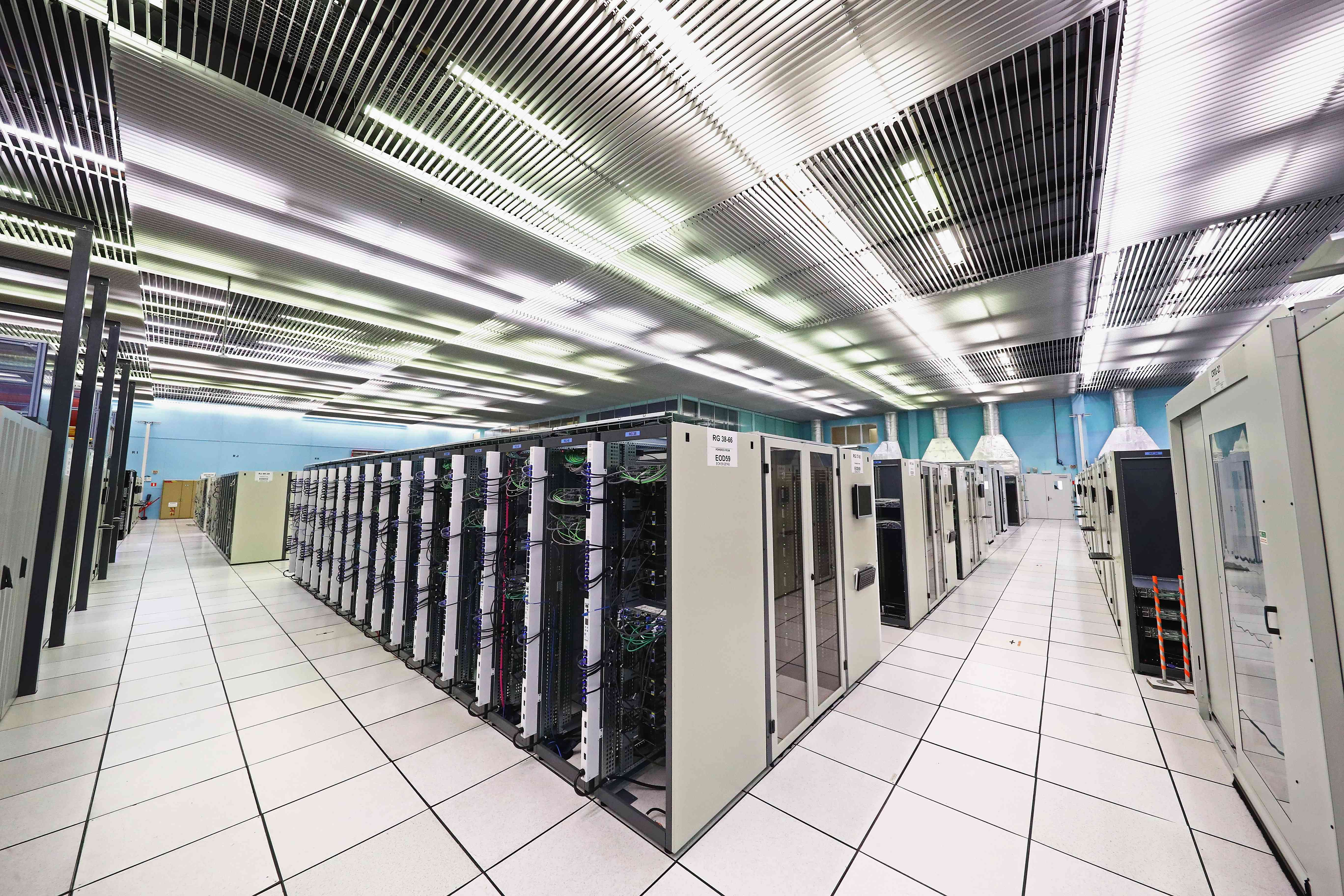 server farm at CERN, data server usage globally is being offset by increases in efficiencies.