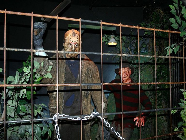 Wax figures of Freddy and Jason