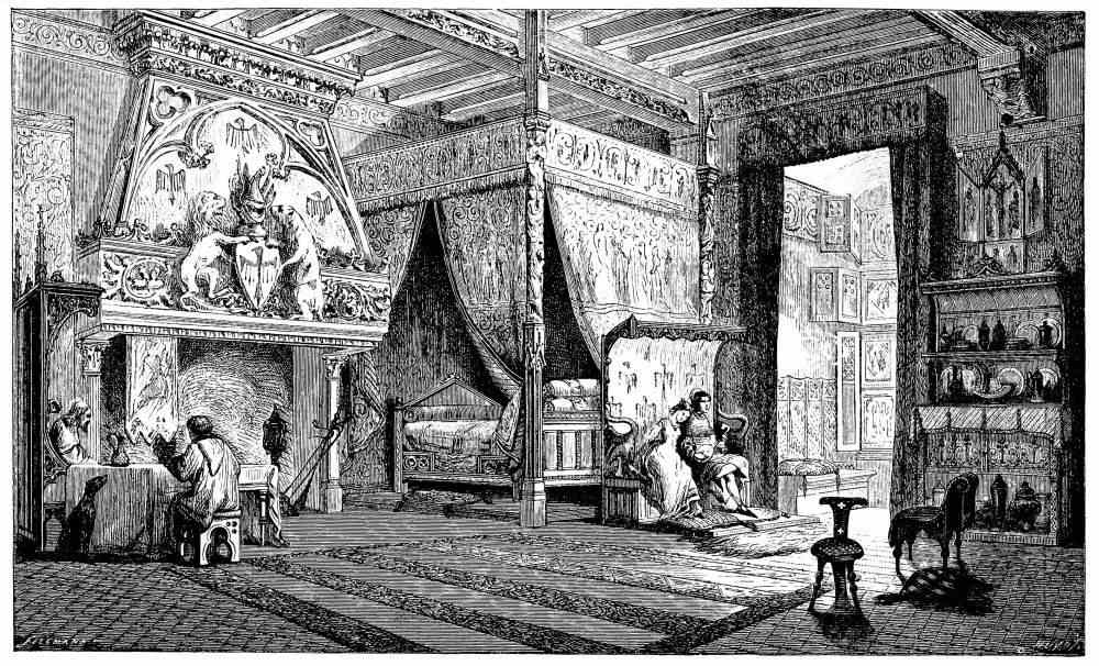 A Nobleman's dwelling room in the 14th century