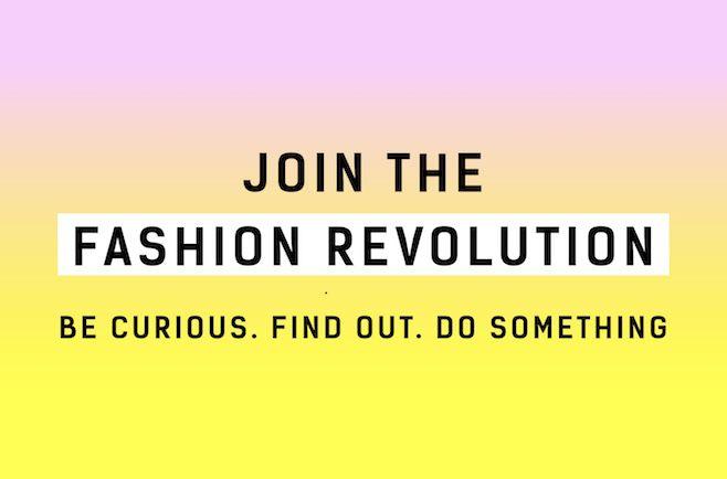 Actúa durante la Fashion Revolution Week, del 24 al 30 de abril
