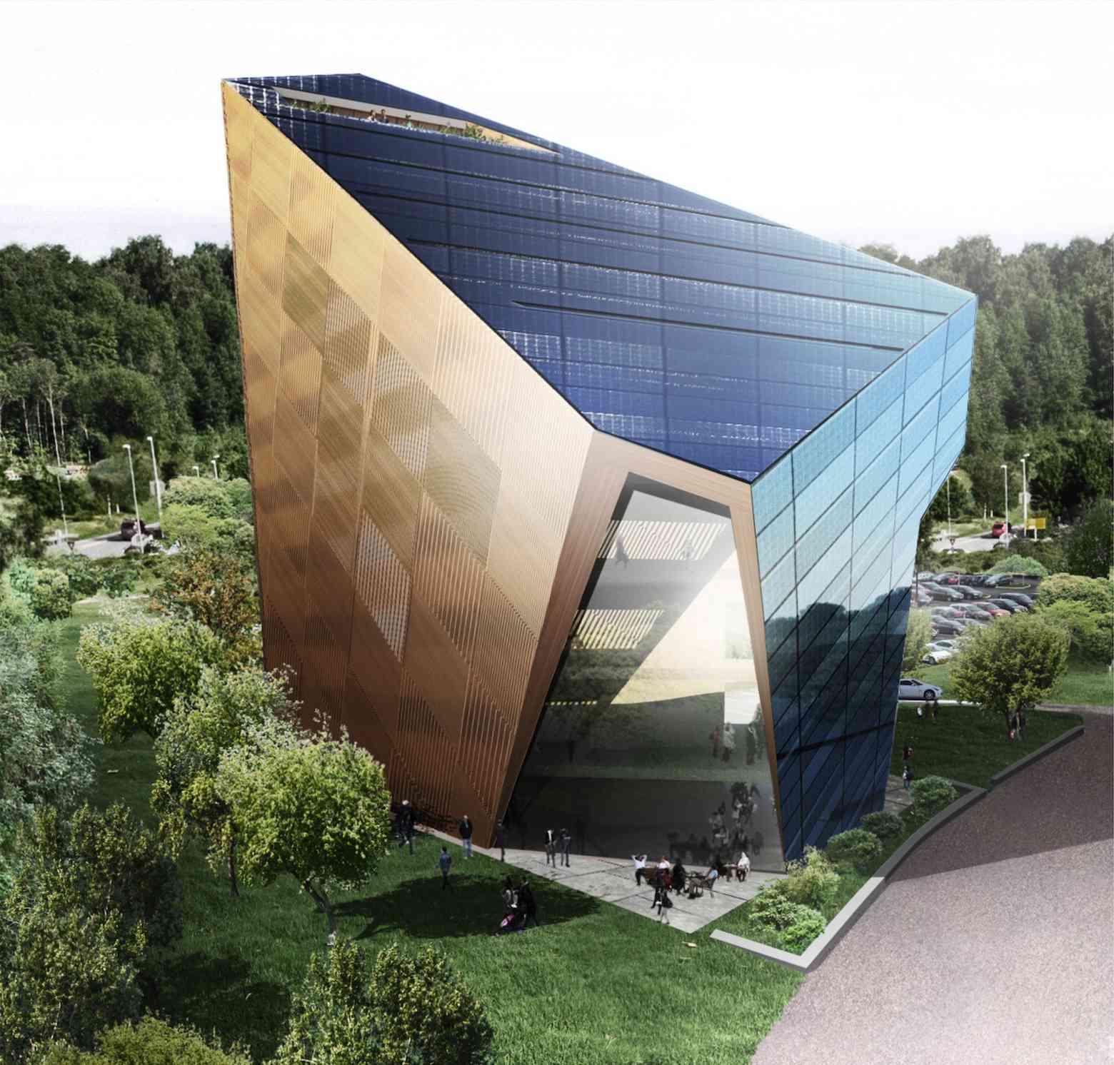 rendering of building in context