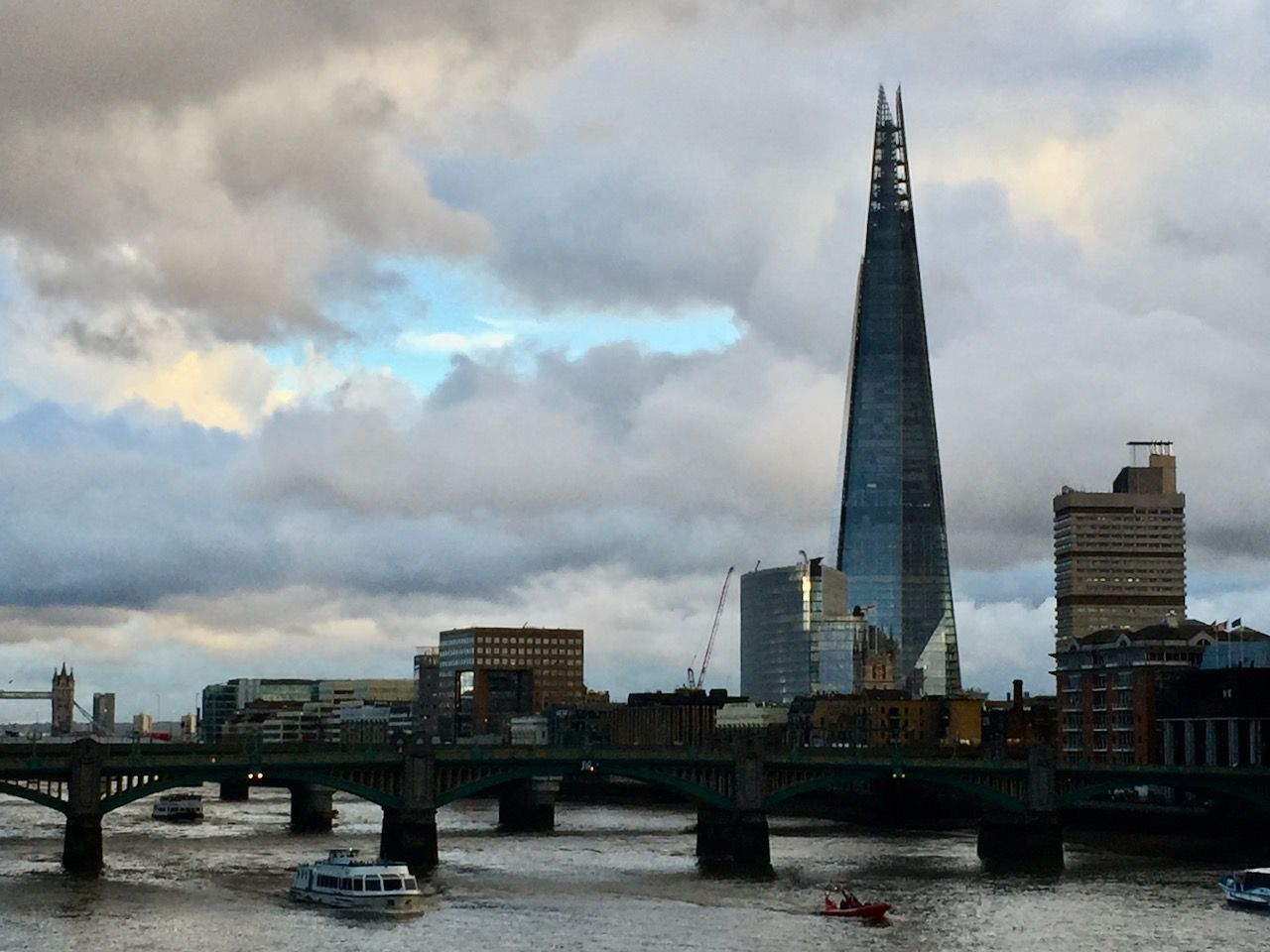 The almost empty Shard in London