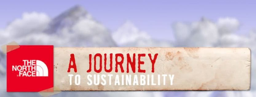 The North Face sustainabilty report banner