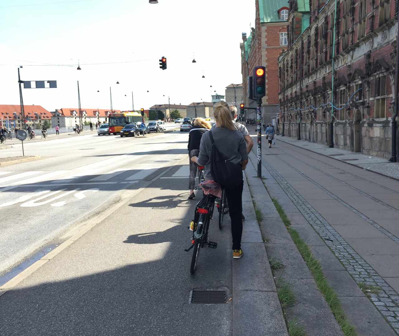 cyclists at red light in Copenhagen