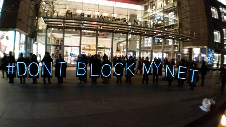NYC Rolling Rebellion Advocates for Net Neutrality