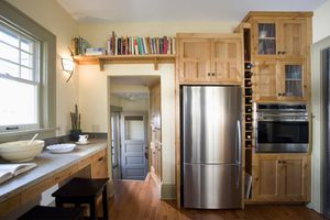 Fridge in kitchen