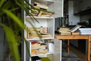 Organizing book shelf in residential building