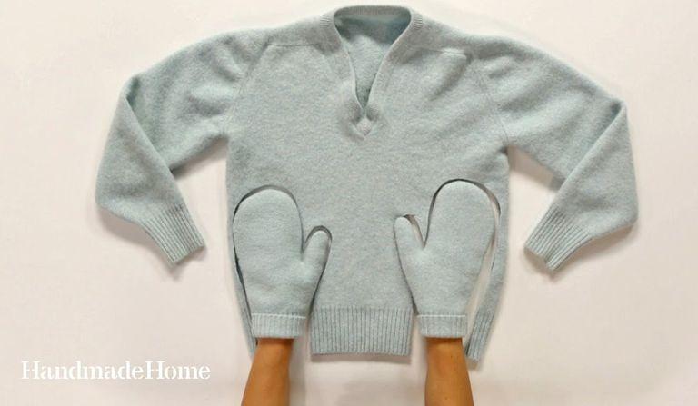 10 regalos de bricolaje de lujo hechos con suéteres viejos