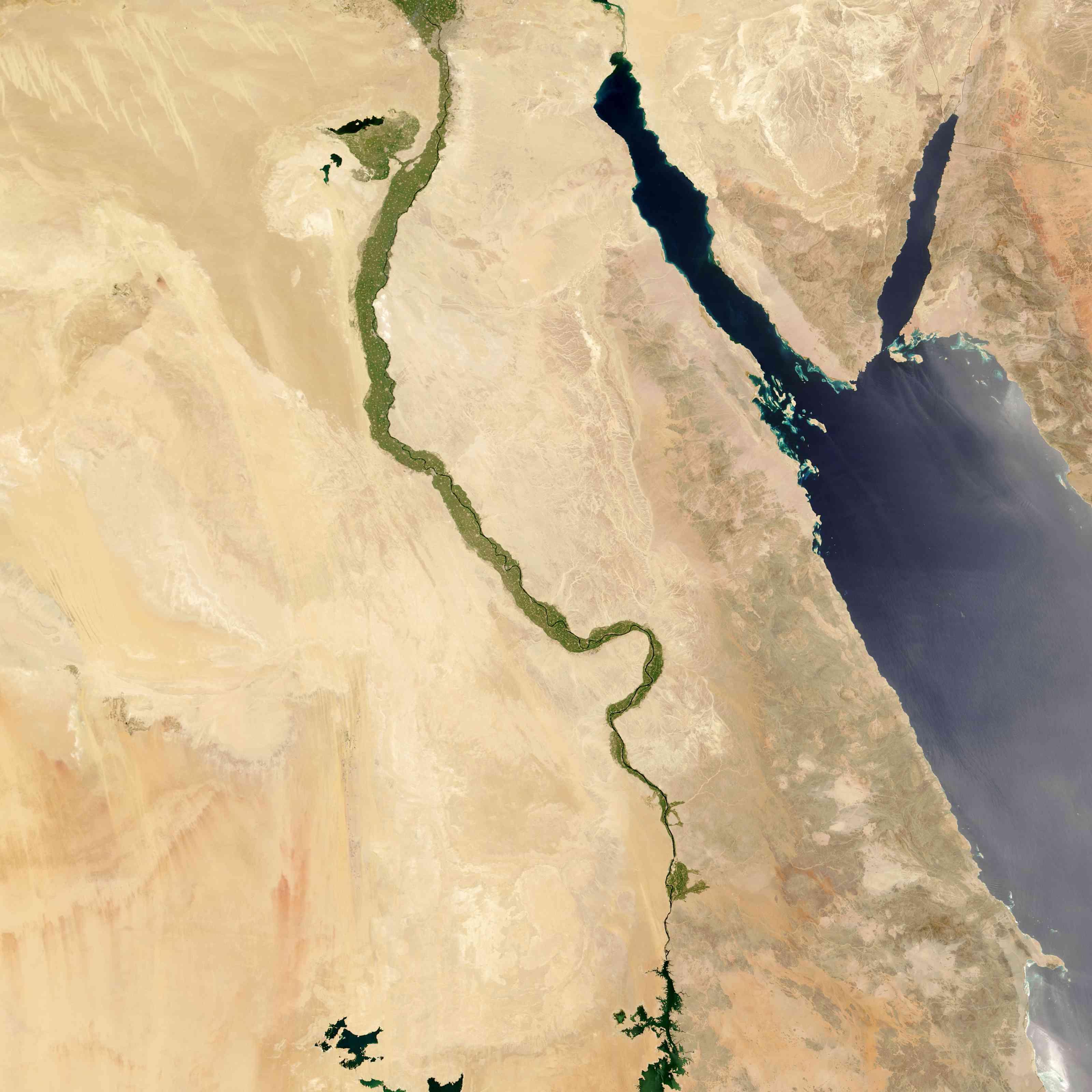 Nile River satellite image
