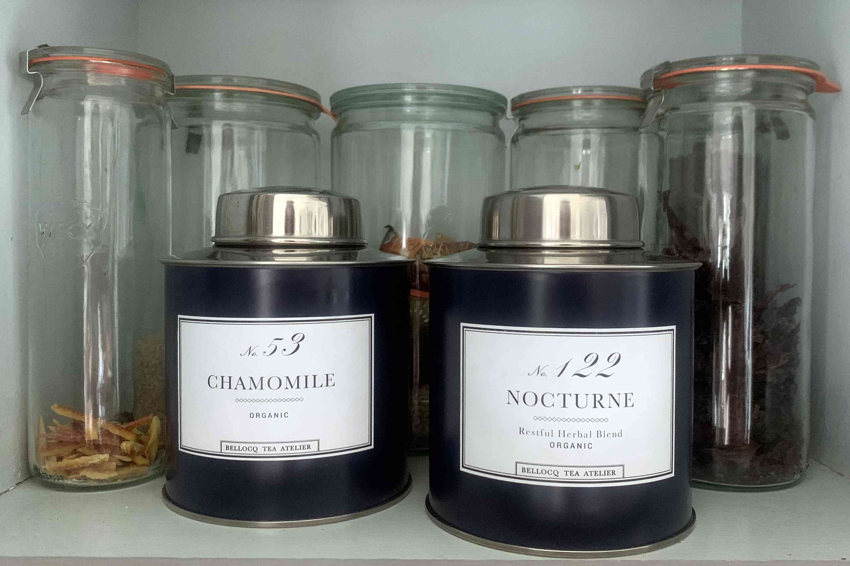 Jars and tea tins