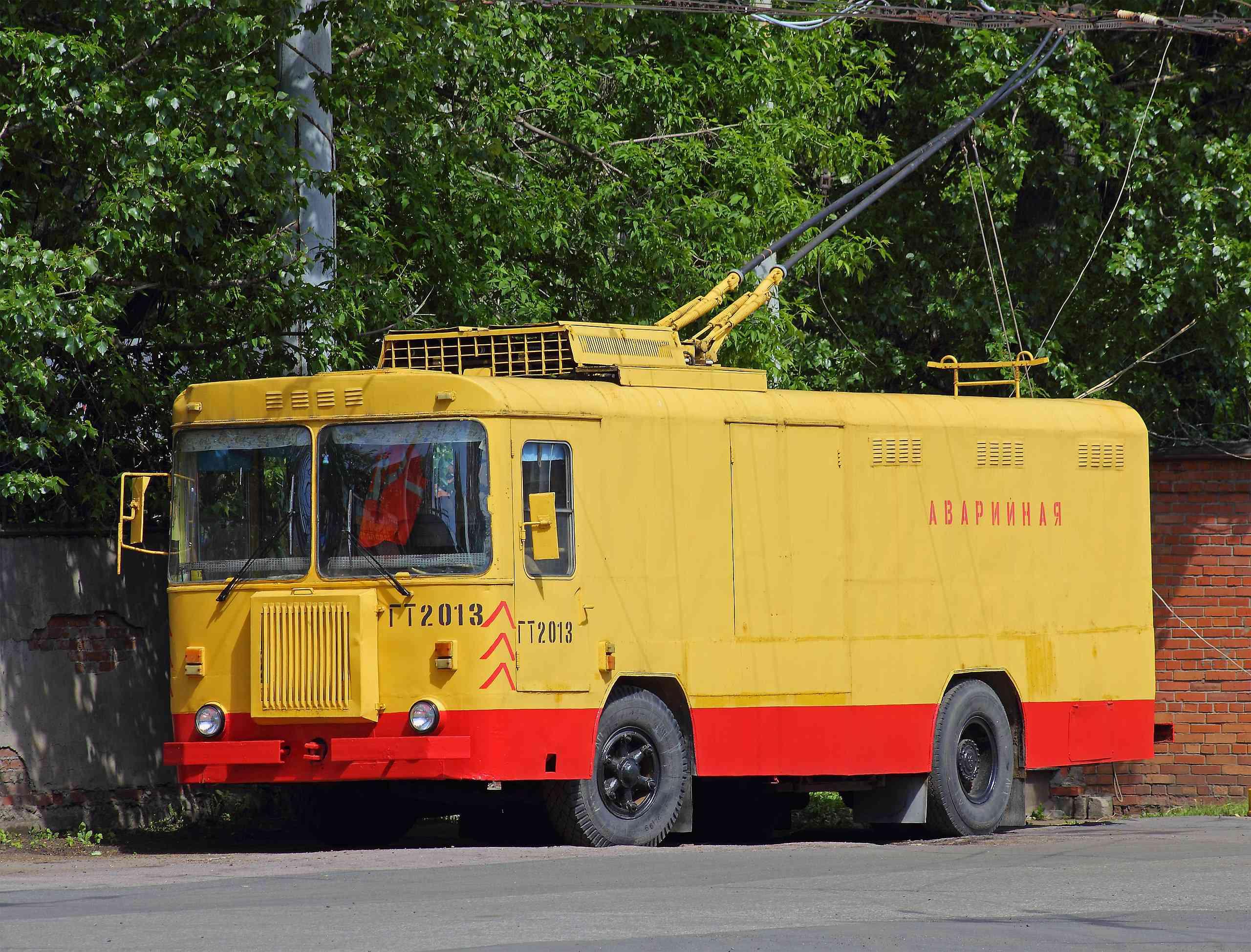 Trolleytruck in St Petersburg