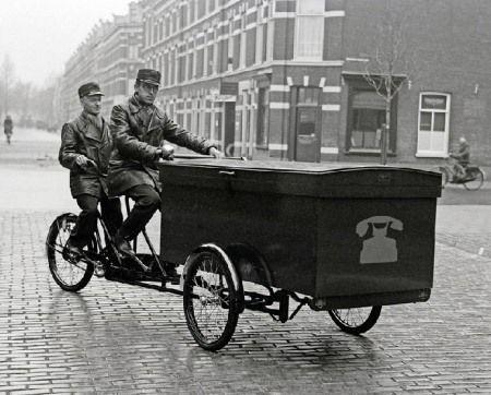 cargo bike wayback machine photo tandem