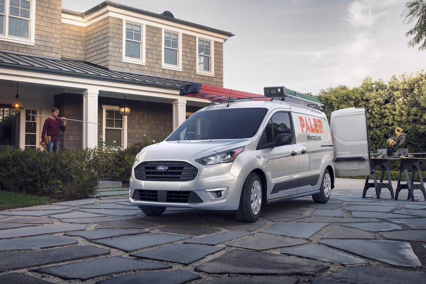 Ford Transit with a low front end